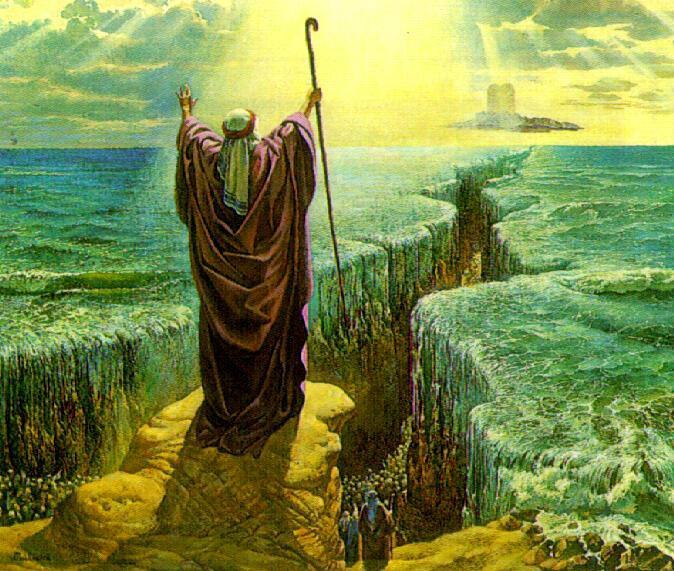 В ветхом завете и простер он руку свою и расступились воды
